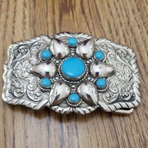 Western Turquoise Belt Buckle
